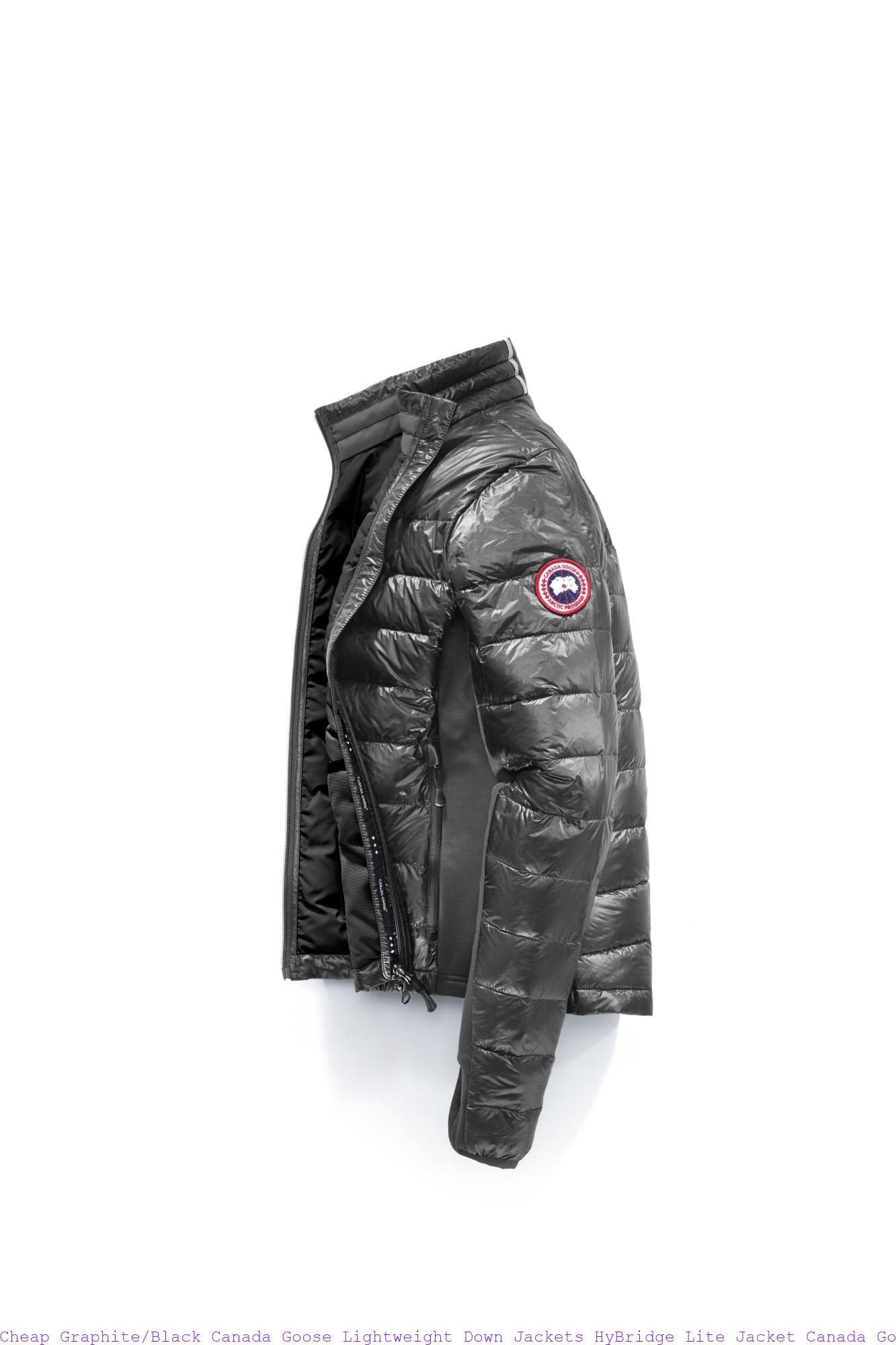 1f57db2d35d Cheap Graphite/Black Canada Goose Lightweight Down Jackets HyBridge Lite  Jacket Canada Goose Outlet Parka 2701L