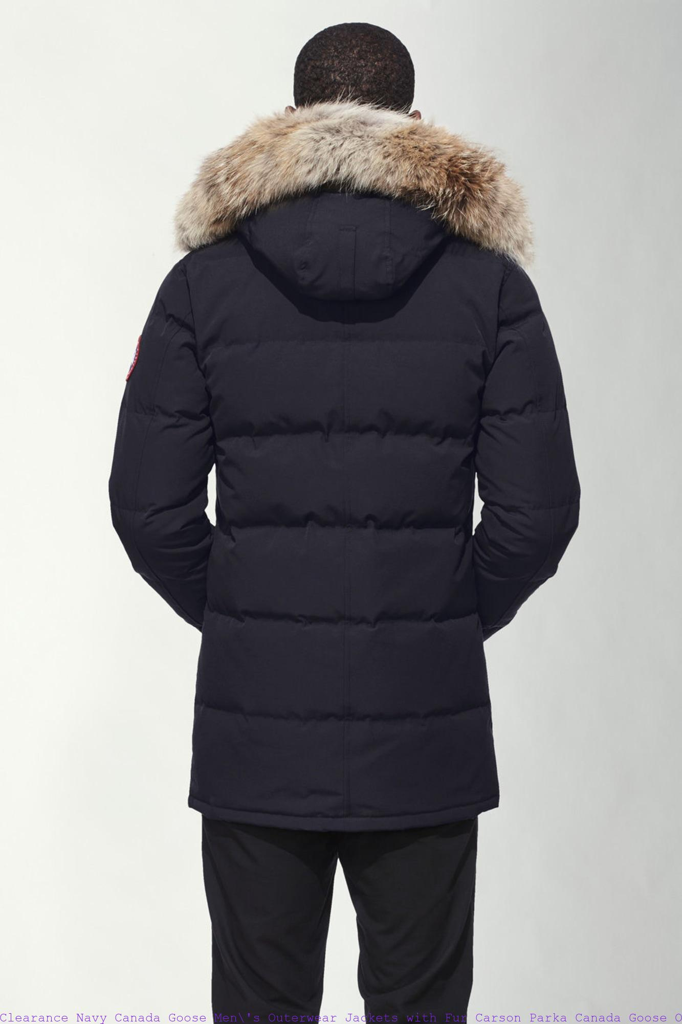 Clearance Navy Canada Goose Men  s Outerwear Jackets with Fur Carson ... 8a49f4008