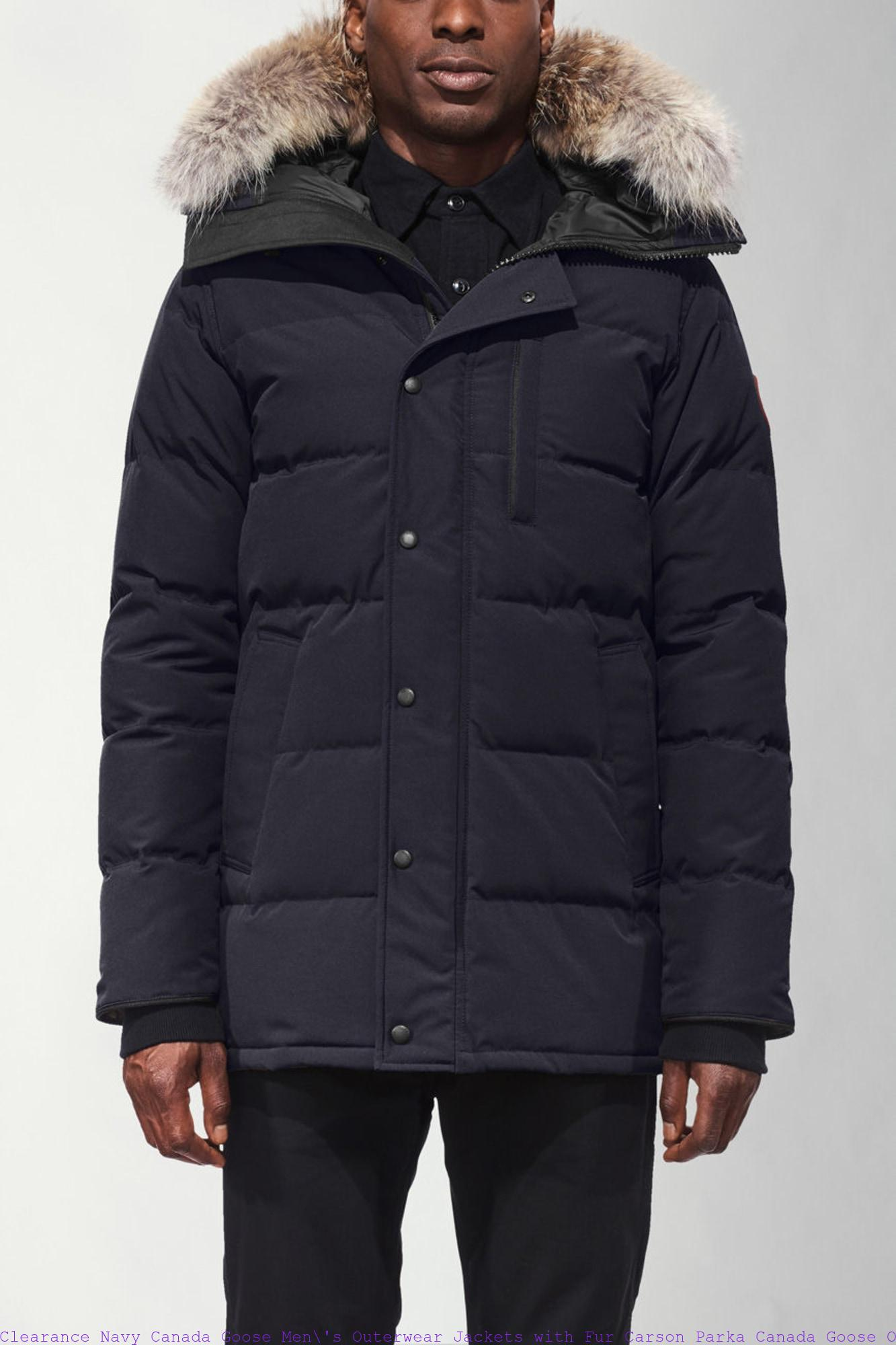 Clearance Navy Canada Goose Men  s Outerwear Jackets with Fur Carson ... edeb13902