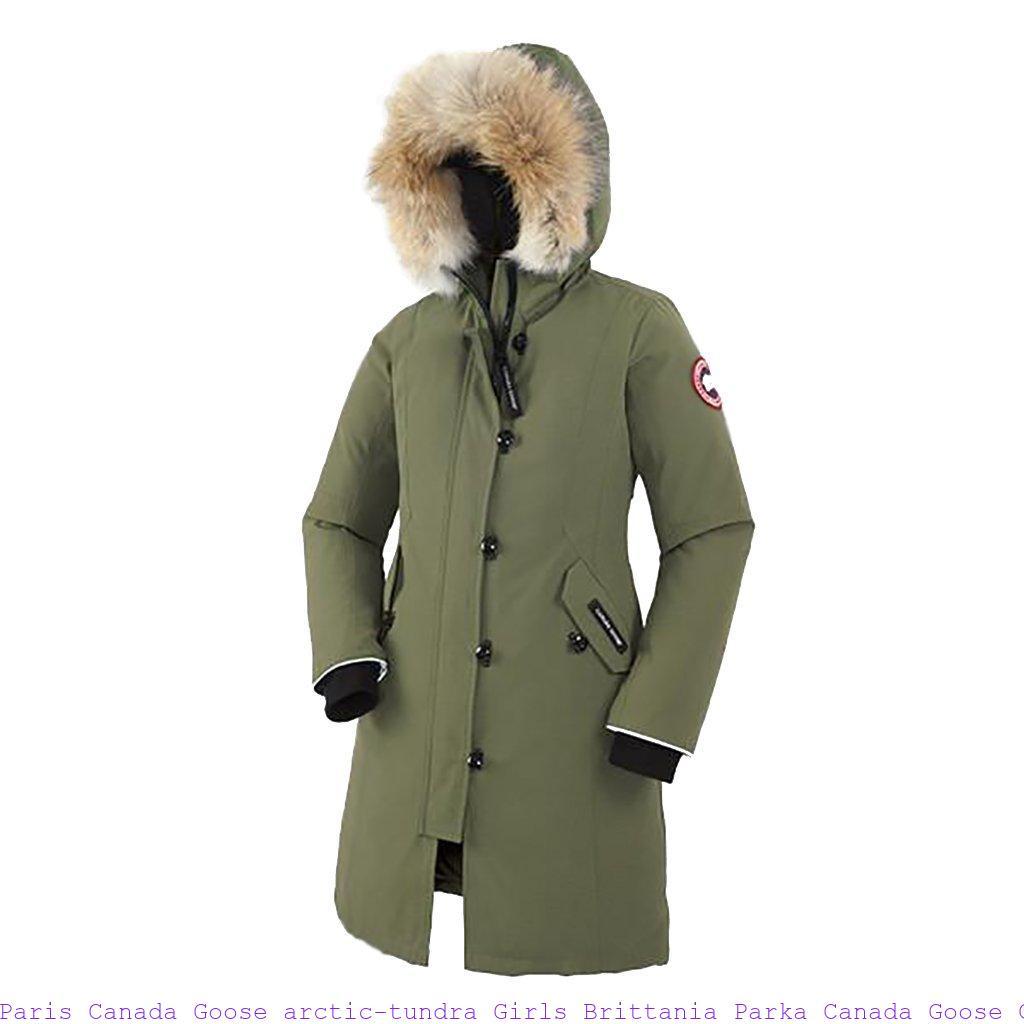 c4c04fbed5a Paris Canada Goose arctic-tundra Girls Brittania Parka Canada Goose Clothing  Uk 6605143557